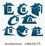 collection of property symbols... | Shutterstock .eps vector #148633175
