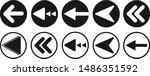 back arrow icon set vector...   Shutterstock .eps vector #1486351592