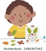 illustration of a kid boy... | Shutterstock .eps vector #1486367462