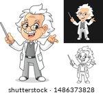 happy old man professor with... | Shutterstock .eps vector #1486373828