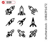 rocket icon isolated sign... | Shutterstock .eps vector #1486391672