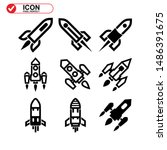 rocket icon isolated sign... | Shutterstock .eps vector #1486391675