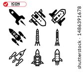 rocket icon isolated sign... | Shutterstock .eps vector #1486391678