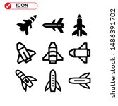 rocket icon isolated sign... | Shutterstock .eps vector #1486391702