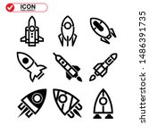 rocket icon isolated sign... | Shutterstock .eps vector #1486391735