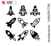 rocket icon isolated sign... | Shutterstock .eps vector #1486391738