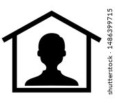 anonymous person at house ... | Shutterstock .eps vector #1486399715