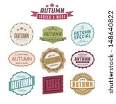 collection of autumn sales...   Shutterstock . vector #148640822