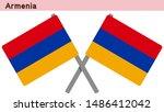 armenia flags isolated on white ... | Shutterstock .eps vector #1486412042