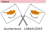 cyprus flags isolated on white... | Shutterstock .eps vector #1486412045