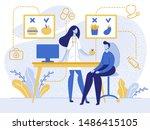 cartoon nutritionist doctor... | Shutterstock .eps vector #1486415105