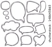 doodle speech bubbles....   Shutterstock .eps vector #148645865
