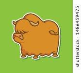 big fat bison vector... | Shutterstock .eps vector #1486459475