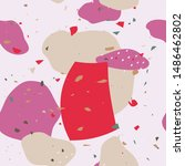 terrazzo flooring textured... | Shutterstock .eps vector #1486462802