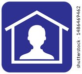 anonymous person at house ... | Shutterstock .eps vector #1486469462