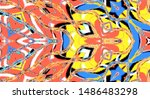 colorful abstract pattern for...   Shutterstock . vector #1486483298