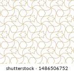 arabic seamless pattern.... | Shutterstock .eps vector #1486506752