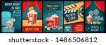 cinema poster. night film...   Shutterstock .eps vector #1486506812