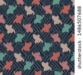 a seamless vector pattern with... | Shutterstock .eps vector #1486507688