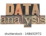data analysis  isolated text in ... | Shutterstock . vector #148652972