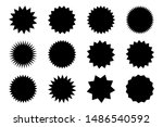 set of vector starburst ... | Shutterstock .eps vector #1486540592