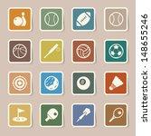 sports icons set.illustration...   Shutterstock .eps vector #148655246