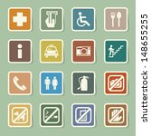 public icons set.illustration... | Shutterstock .eps vector #148655255