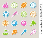 sports icons set.illustration... | Shutterstock .eps vector #148655312