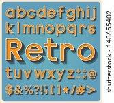 retro type font  vintage... | Shutterstock .eps vector #148655402