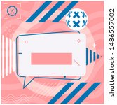 social media or print text... | Shutterstock .eps vector #1486557002
