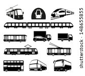 transportation icons collection ... | Shutterstock .eps vector #148655855