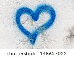 Heart Graffiti On A Rendered...