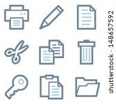 document icons  blue line... | Shutterstock .eps vector #148657592
