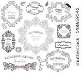 vector set  calligraphic design ... | Shutterstock .eps vector #148659542