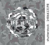 inefficient on grey camo texture | Shutterstock .eps vector #1486613198