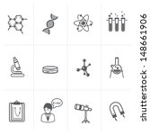 vector science icon set | Shutterstock .eps vector #148661906