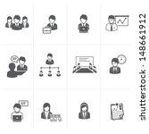 Business and Office people Icons set. - stock vector
