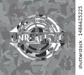 unrealistic on grey camouflaged ... | Shutterstock .eps vector #1486625225