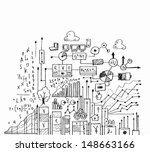 business ideas sketch image on... | Shutterstock . vector #148663166