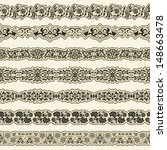 vintage border set for design  | Shutterstock .eps vector #148663478