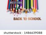 back to school wording as... | Shutterstock . vector #1486639088