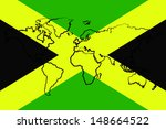 The Flag Of Jamaica With The...