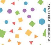 geometric basic shapes seamless ... | Shutterstock .eps vector #1486647662