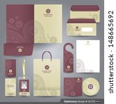 stationery set design  ... | Shutterstock .eps vector #148665692