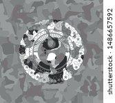 depression icon on grey camo... | Shutterstock .eps vector #1486657592