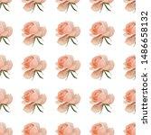 pink rose. vector illustration. ... | Shutterstock .eps vector #1486658132
