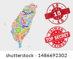 privacy taiwan map and seal... | Shutterstock .eps vector #1486692302