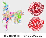 key hamilton island map and... | Shutterstock .eps vector #1486692392
