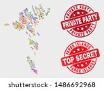 privacy faroe islands map and... | Shutterstock .eps vector #1486692968