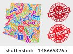 guard arizona state map and... | Shutterstock .eps vector #1486693265